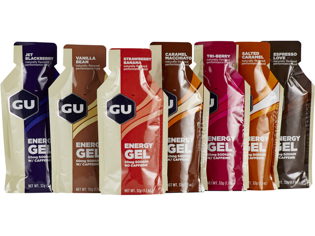 GU Energy Gel Test Package 7x32g, Different Flavours